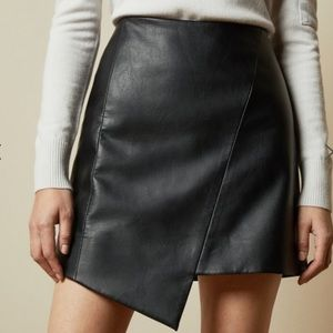 Ted baker faux leather skirt